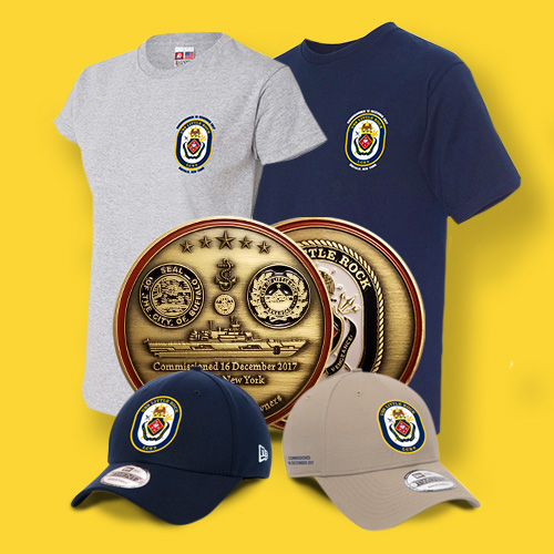 Tshirts, coins and hats