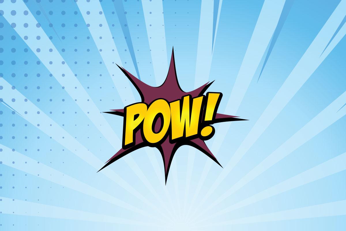 POW! Hero graphic