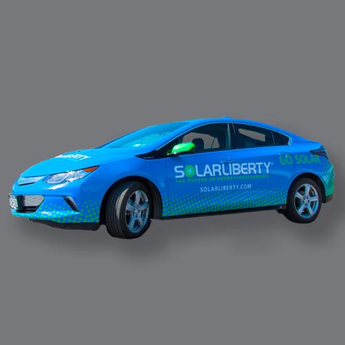 vehicle wrap over renewable energy car